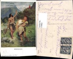 579862,Künstler Ak Ferd. Leeke Richard Wagner Ring Rheingold Sage Pub M. Munk 982 - Märchen, Sagen & Legenden