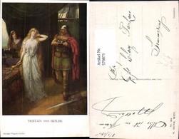 579871,Künstler Ak Ferd. Leeke Richard Wagner Tristan U. Isolde Gemanenkult Pub M. Mu - Märchen, Sagen & Legenden
