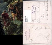 579872,Künstler Ak F. Lekee Götterdämmerung III Aufzug Germanenkult - Märchen, Sagen & Legenden