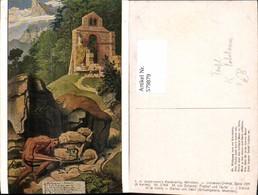 579879,Künstler Ak M. V. Schwind Bischof U. Teufel Fabelwesen Pub F. A. Ackermann 268 - Märchen, Sagen & Legenden