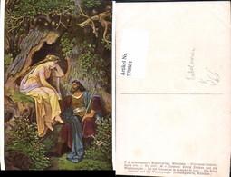 579881,Künstler Ak M. V. Schwind König Krokus U. D. Waldnymphe Nymphe Fabelwesen Pub - Märchen, Sagen & Legenden