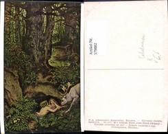 579882,Künstler Ak M. V. Schwind Nixen Einen Hirsch Tränkend Fabelwesen Pub F. A. Ack - Märchen, Sagen & Legenden
