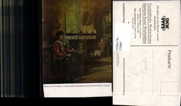579887,Künstler Ak Possin Ein Ruhetag Alter Mann Pfeife Rauchen - Ansichtskarten