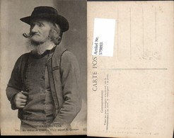 579893,Rauchen Mann Bart Hut Pfeife Costumes Bretons France Tracht - Ansichtskarten