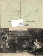 579897,Rauchen Les Contes Du Lit Clos Pere Antoine Alter Mann Pfeife Frauen Hausarbei - Ansichtskarten