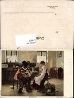 579900,Künstler Ak E. Louyot Annäherung Mann Soldat Uniform Pfeife Rauchen Frau Koche - Ansichtskarten