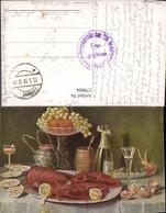 579904,Künstler Ak Hummer Champagner Austern Stillleben Essen - Küchenrezepte