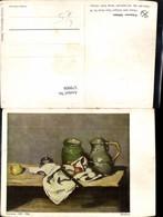 579908,Künstler Ak Cezanne Obst Messer Krug Stillleben Essen - Küchenrezepte