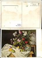 579910,Künstler Ak Paul Cezanne Obst U. Blumen Vase Stillleben Essen - Küchenrezepte