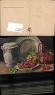 579915,Künstler Ak Erdbeeren Ribiseln Einmachglas Stillleben Essen - Küchenrezepte