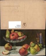 579918,Künstler Ak Äpfel U. Birnen Vase Stillleben Essen - Küchenrezepte