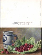 579920,Künstler Ak M. Billing Himbeeren Auf Blatt Krug Stillleben Essen - Küchenrezepte
