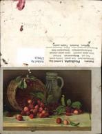 579923,Künstler Ak Kirschen Korb Krug Stillleben Essen - Küchenrezepte