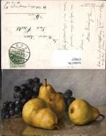 579927,Künstler Ak M. Billing Birnen Weintrauben Stillleben Essen - Küchenrezepte
