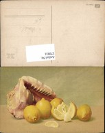 579931,Künstler Ak Muschel Zitrone Stillleben Essen - Küchenrezepte