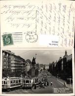 580216,tolle AK Prag Praha Wenzelsplatz Straßenbahn - Ansichtskarten