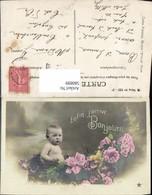 580899,Baby Kleinkind Kind Rosen Blumen Enfin J Arrive Bonjour - Kinder