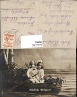 580902,Kinder Bub Junge Mädchen I. Boot Sitzend Pfingsten - Kinder