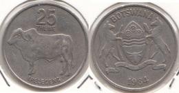 Botswana 25 Thebe 1984 KM#6 - Used - Botswana