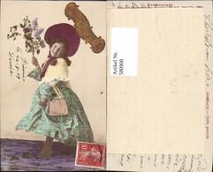 580908,Mädchen Kind Kleid Handtasche Hut Hutmode Blumen Bonne Fete Pub NPG - Kinder