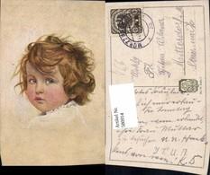 580914,Künstler Ak Kind Blaue Augen Portrait Pub Jobst 85/3 - Kinder