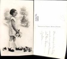 580920,Mädchen Kleid Rosen Blumen - Kinder