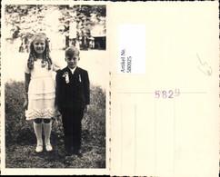 580925,Foto Ak Bub Junge Mädchen Kinder Erstkommunion - Kinder