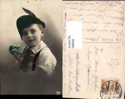 580928,Kind Junge Bub Portrait Hut Federhut Pub EAS 7323/3 - Kinder