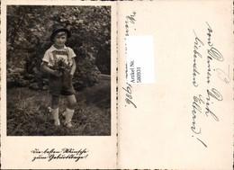 580931,Kind Bub Junge I. Tracht Lederhose Hut Geburtstag Wien 1936 - Kinder