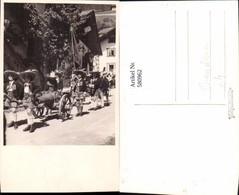 580962,Foto Ak Schützenverein Umzug Kanone Tracht Kinder Brauchtum Brauch - Ansichtskarten
