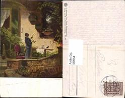 580964,Künstler Ak C. Spitzweg Der Pfarrer Morgenlektüre Lesen Pfeife Rauchen - Ansichtskarten