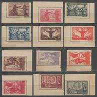 ROUMANIE:  N°854/865 ** (NSG D'origine, Papier Gris)      - Cote 150€ - - 1918-1948 Ferdinand, Charles II & Michael