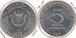 Burundi 5 Francs 1980 KM#20 - Used - Burundi