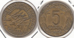 Camerun 5 Francs 1958 KM#10 - Used - Cameroun