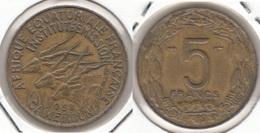 Camerun 5 Francs 1958 KM#10 - Used - Camerun