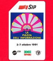 ITALIA - Scheda Telefonica - SIP - Usata - Smau 1991 - OCR 19 Mm - Golden 136D - C&C 2193 D - Italië