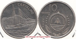 Capo Verde 10 Escudos 1994 Sail-ship Carvalho KM#41 - Used - Capo Verde