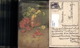 579941,Künstler Ak C. Von Sivers Ribiseln Blumen I. Vase Stillleben Essen - Küchenrezepte
