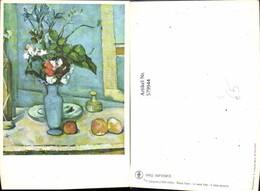 579944,Künstler Ak Paul Cezanne Blaue Vase Äpfel Stillleben Essen - Küchenrezepte