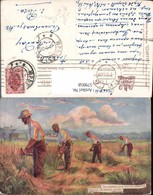 579958,Künstler Ak Country Life Männer B. Mähen Getreide Landwirtschaft Pub Raphael T - Bauern
