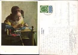 579969,Künstler Ak Vermeer Van Delft Die Spitzenklöpplerin Heimarbeit Hausarbeit - Berufe