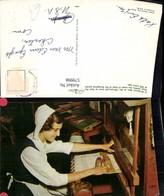 579998,A Margaree Miss At The 150 Year Old Loom Webstuhl Heimarbeit Hausarbeit - Berufe