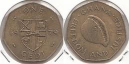 Ghana 1 Cedi 1979 KM#19 - Used - Ghana