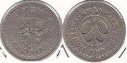 Ghana 10 Pesewas 1967 KM#16 - Used - Ghana