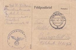German Feldpost WW2: Übernahmekommando Pz. AOK 2 In Litzmannstadt P/m Litzmannstadt 1 5.2.1943 - Letter Inside  (G94-20) - Militaria