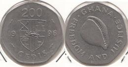Ghana 200 Cedis 1996 KM#35 - Used - Ghana
