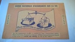 BUVARD Vous Representez Un Capital CAISSE NATIONALE D ASSURANCES - Bank & Insurance