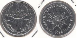 Madagascar 1 Franc 1986 KM#8 - Used - Madagascar