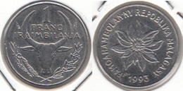 Madagascar 1 Franc 1993 KM#8 - Used - Madagascar
