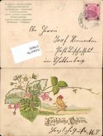 579695,Präge Lithographie Ostern Küken Vermenschlicht Goldverzierung - Ostern
